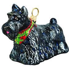 terrier standing tartan bandana jtw ornament