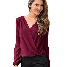 wrap shirts blouses aliexpress com buy lace patchwork wrap blouses sleeve