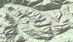 Blue Ridge Mountains Map Bishop Ridge Trail 272 Blue Lake Ridge Trail 271 Hamilton Buttes
