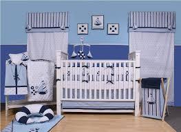 Navy Crib Bedding Amazon Com Little Sailor 10 Pc Crib Set Crib Bedding Sets Baby