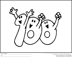 100th day coloring pages exprimartdesign com