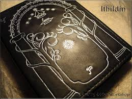 leather note book ithildin inspired moria lotr by svetliy