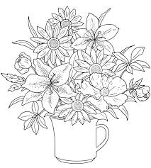 printable coloring pages of pretty flowers pretty flower coloring pages best flower coloring pages ideas on