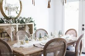 christmas tour 2016 dining room u0026 diy snowy centrepiece so