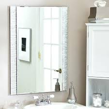 How To Hang Bathroom Mirror How To Hang A Frameless Mirror Without Bathroom Mirror White