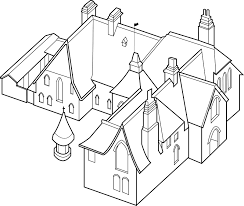 the red house axonometric drawing of the red house