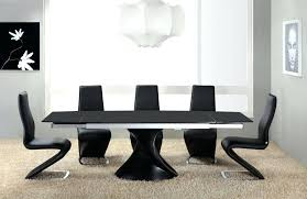Black Glass Extending Dining Table Top 20 Black Gloss Extending Dining Tables Dining Room Ideas