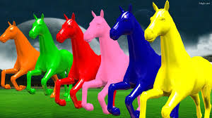 horse colourful colour song for children rhymes animated