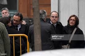 bid farewell catalan separatist leaders jordi turull 2r and josep rull 2l