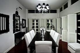 Emejing Black And White Dining Room Set Photos Moder Home Design - Black dining room table