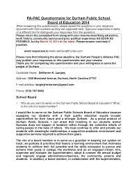dewarren langley 2014 pa pac questionnaire