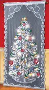 lighted tree curtain panel from collections etc