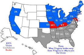 map us states during civil war border states