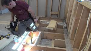 how to frame a floor bathroom remodeling part 7 framing openings in floor joists