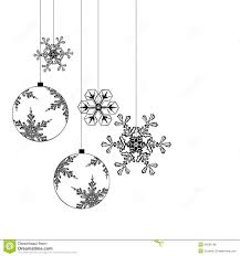 white silhouette of a christmas tree decorations royalty free