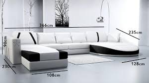 canape angles deco in canape 2 angles en cuir blanc et noir can