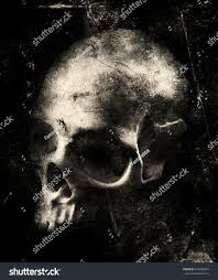halloween horror background music download scary skull isolated on black grunge stock photo 602689337