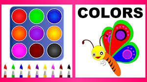 colors for children to learn with butterfly kids learning videos