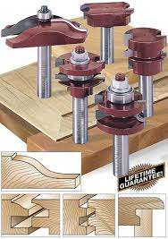 router bits for cabinet door making 6 piece cabinet door making router bit set toolstoday industrial