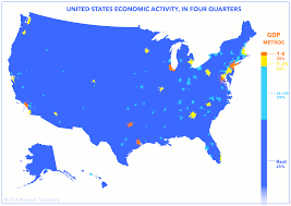 map us states world economies cities drive the u s economy here s proof in one map the