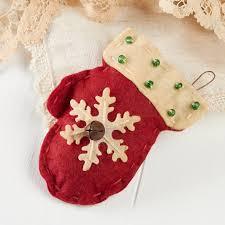primitive felt mitten ornament ornaments