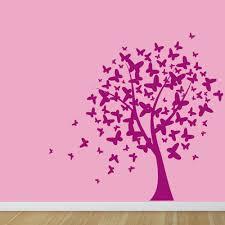 owl tree wall sticker wall chimp uk butterfly tree wall sticker