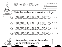 negative number train a year 4 number sequences worksheet