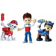 paw patrol action pack pups figure 3 pack marshall ryder