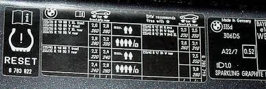 reset tyre pressure bmw 3 series tyre pressure question