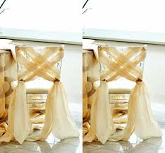 gold chair sashes gold sashes wedding chairs best home chair decoration