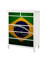 Brazil Flag Image Brazil Flag Vinyl Ikea Chest Hemnes 6 Drawers