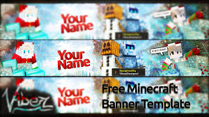 free minecraft christmas banner template youtube intended for