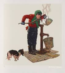 norman rockwell print the cold