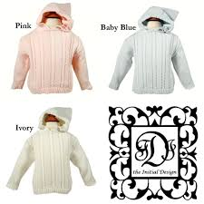 cable sweater cable knit cotton monogrammed sweater with back zipper the