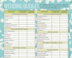 wedding budgets template expin memberpro co