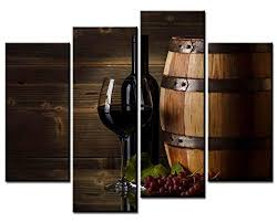 fingertip art wall art paintings 4 pieces decor art of wine and