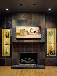 slate tile fireplace binhminh decoration