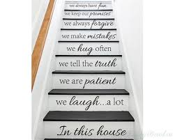 stair decals in this house we do quote decals for staircase