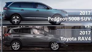 peugeot 5008 interior dimensions 2017 peugeot 5008 suv vs 2017 toyota rav4 technical comparison