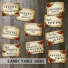 Wedding Candy Table Rockabilly Wedding Candy Table Signs Digital Files Tattoo