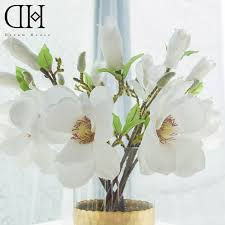 Artificial Flower Decoration For Home House Magnolia Promotion Shop For Promotional House Magnolia On