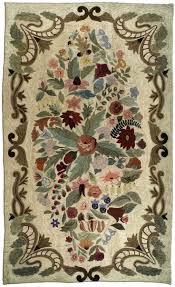 Wool Hand Hooked Rugs 399 Best Rug Hooking Floral Plants Images On Pinterest Rug