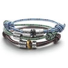 beaded rope bracelet images Personalised men 39 s rope bead bracelet by chambers beau jpg