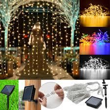 Garden Led Solar Lights by 300 Led Solar Powered Fairy String Curtain Light Lamp Outdoor
