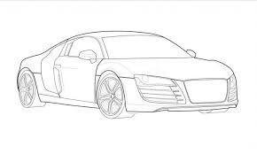 audi r8 coloring pages free cars coloring pages kids