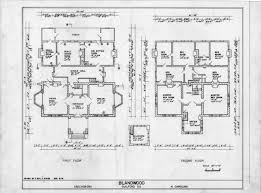 Farm Cottage Plans by Floor Plans Blandwood Greensboro North Carolina Historic