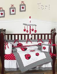 mesmerizing pink and brown polka dot crib bedding great decorating