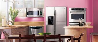 Kitchen Appliances Ideas Ge Profilea Series Kitchen With Green And Wood Cabinets And