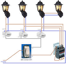 wiring outdoor pir light throughout outside lights diagram