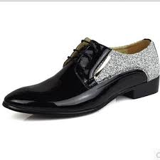 wedding shoes for of the groom 2014 pointed toe patent leather fashion business shoes white